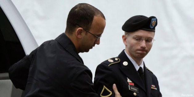 WikiLeaks: Bradley Manning non-coupable de collusion avec l'ennemi, mais reconnu coupable de 19 autres...