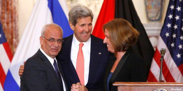 Israéliens et Palestiniens veulent trouver un accord d'ici 9 mois: le bilan de la première journée de