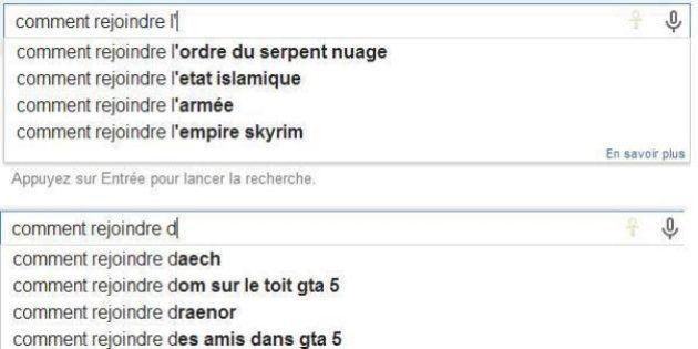 Google bloque les suggestions de recherche