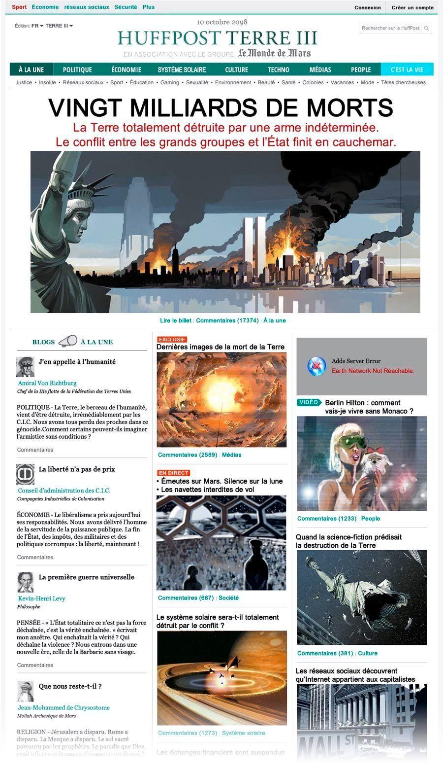 Universal War 1 : 20 milliards de morts. La