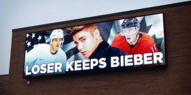 Canada - USA au hockey : le perdant garde Justin Bieber