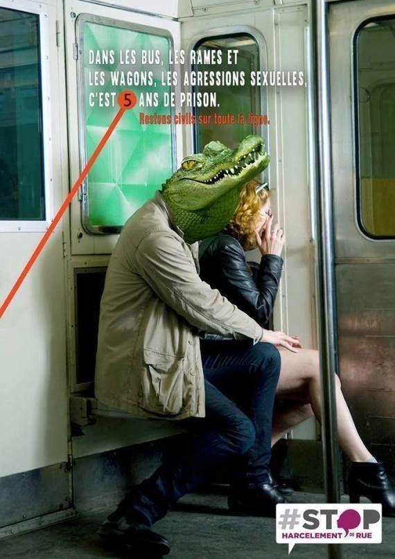PHOTO. Contre le harcèlement dans les transports en commun, la fausse affiche d'une association qui parodie...
