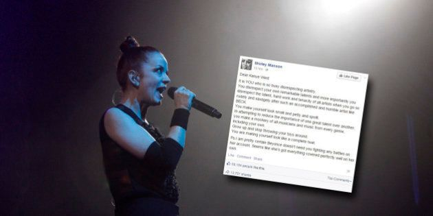 Shirley Manson de Garbage remet Kanye West à sa place dans une lettre après la polémique des Grammy