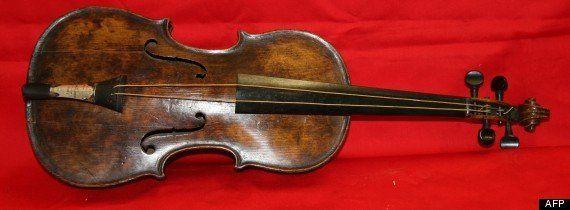 PHOTO. Le violon du Titanic refait surface, 101 ans après le