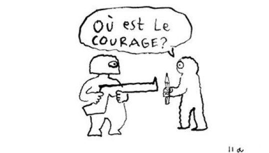 Où est le courage