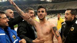 Un joueur grec banni à vie pour un salut