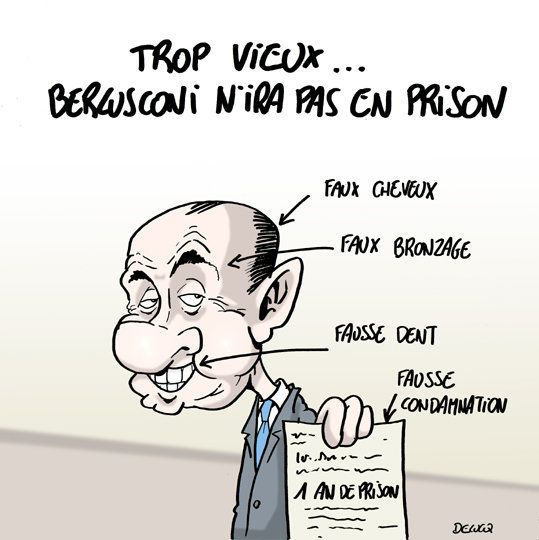 Berlusconi: peine confirmée... qui ne change