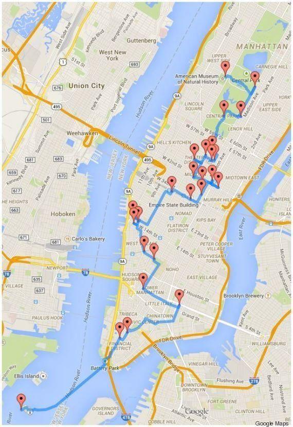 Visiter New York : le parcours idéal calculé par un