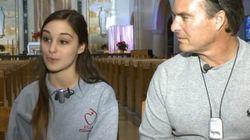 Joyeux Noël ! Un père entend la voix de sa fille pour la première