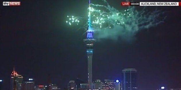 La Nouvelle-Zélande fête le Nouvel An 2016 avec 12 heures d'avance sur la France