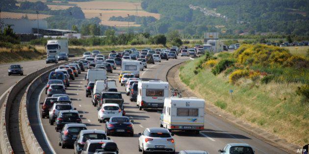 Chassé-croisé de l'été, vacances: un pic de 828 km de bouchons samedi en