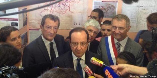 PHOTOS. François Hollande, ce président loin d'être en vacances, en visite à Auch dans le