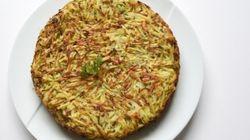Vite fait, Bien fait: gâteau de pommes de terre aux herbes et aux petits