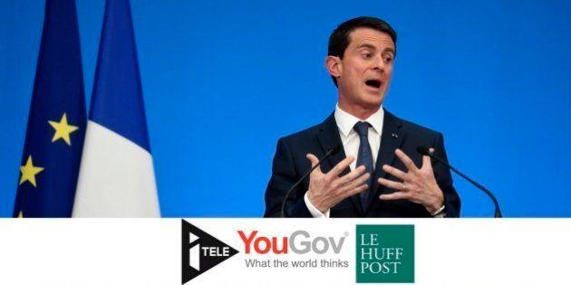 La popularité de Valls au plus bas, Hollande et Sarkozy chutent aussi lourdement
