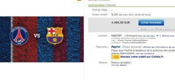 PSG-Barcelone: pagaille au Parc des Princes pour la vente des places, marché noir sur Ebay, Twitter