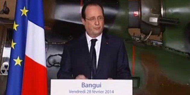 Centrafrique : Hollande à Bangui pour soutenir les soldats