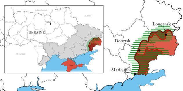 Ukraine : la carte des nouvelles frontières temporaires du pays après le second accord à