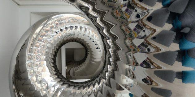 PHOTOS. Manhattan : un architecte conçoit un toboggan qui s'étend sur les 4 étages d'un