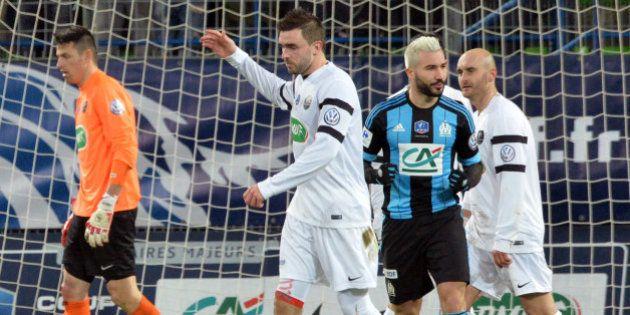 L'Olympique de Marseille bat Granville (0-1) en quart de finale de la Coupe de