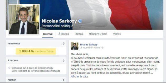 Sur Facebook, Nicolas Sarkozy franchit le cap du million de fans après son élection à la présidence de