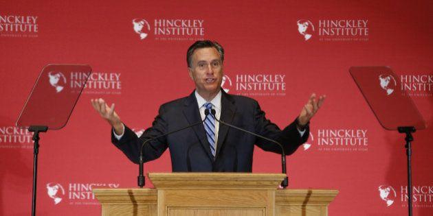 Mitt Romney, républicain de la présidentielle de 2012, donne le coup d'envoi de la résistance anti Donald
