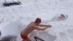Nager dans la neige, une très mauvaise