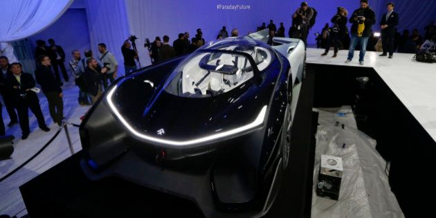 The FFZero1 by Faraday Future is displayed at CES Unveiled, a media preview event for CES International...
