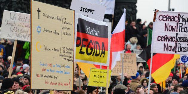 Pegida : le mouvement islamophobe allemand organise sa première manifestation au
