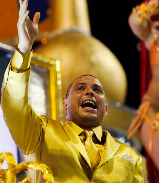 Ronaldo au carnaval de Sao Paulo :