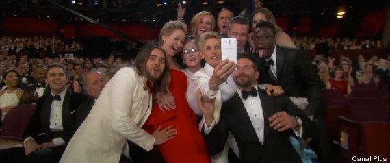 Oscars 2014: un selfie d'Ellen DeGeneres pendant la cérémonie bat des records sur