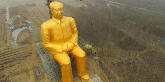 PHOTOS. En Chine, cette statue géante de Mao Tsé-toung fait