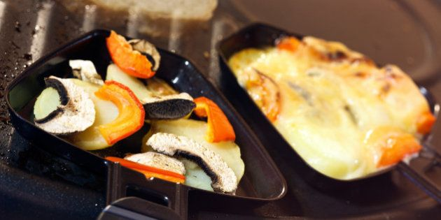 'Raclette ,a Swiss Gourmet Meal.'
