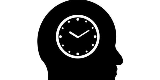 time symbol in a man's