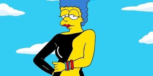 PHOTOS. Marge Simpson transformée en femme fatale par AleXsandro