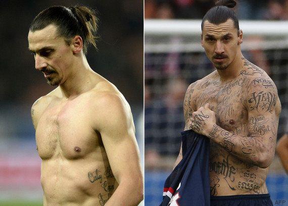 PHOTOS. Avant PSG-Chelsea, Zlatan Ibrahimovic a exhibé des tatouages... en partenariat avec