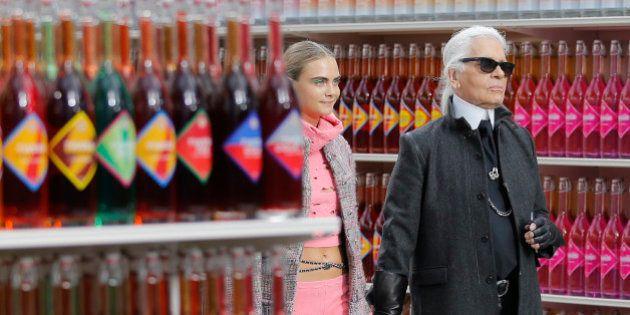 PHOTOS. Pour son défilé, Chanel imagine un décor de