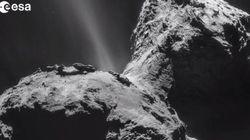 Rosetta photographie de très très près la comète