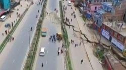 Une vidéo impressionnante de Katmandou filmée par un