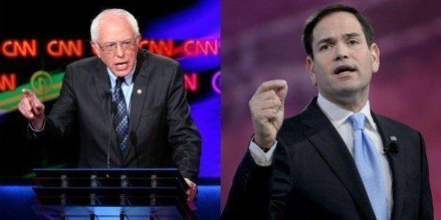 Bernie Sanders et Marco Rubio, les deuxième et troisième hommes de leur camp, remportent les caucus du...