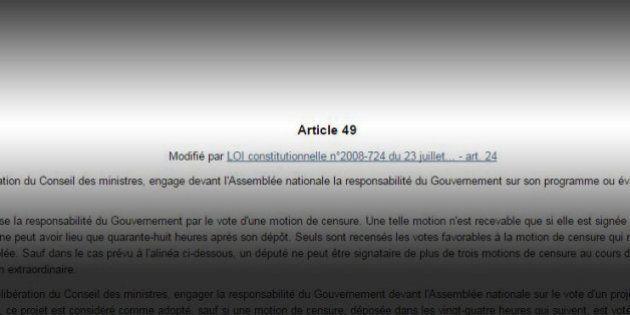 Article 49.3 pour la loi Macron? Un article de la Constitution très utile et très critiqué, même au