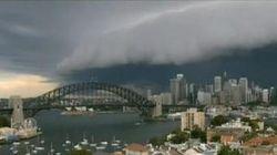 Cet orage à Sydney fait vraiment