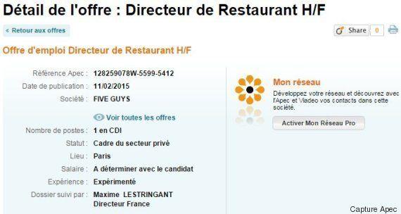 Five Guys à Paris: le nouveau roi américain du hamburger s'installe pour la première fois en