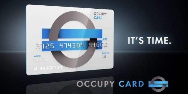 En projet, une carte de crédit aux couleurs du mouvement anti-capitaliste Occupy Wall