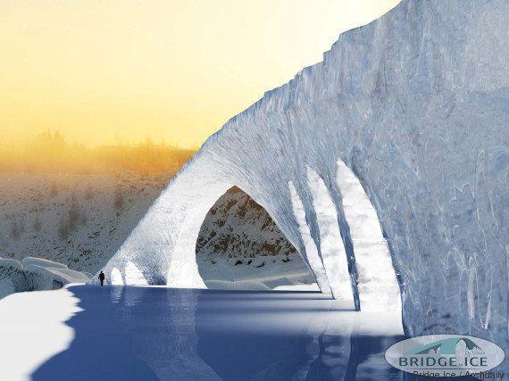 PHOTOS. Finlande: un pont de glace pour rendre hommage à Leonard De