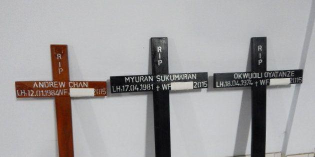 Indonésie: huit condamnés à la peine de mort, dont sept étrangers, ont été
