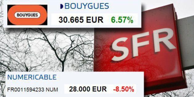 Rachat SFR: les marchés ont décidé qui de Bouygues ou Numericable a la meilleure
