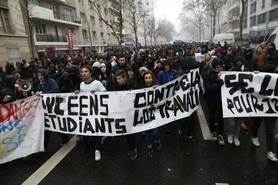 PHOTOS. Manifs, lycées, SNCF, RATP, bouchons... Le point en cette journée de