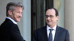Sean Penn reçu par Hollande à l'Elysée (mais pas pour parler