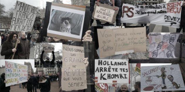 Le meilleur du pire des slogans de la manifestation anti-loi