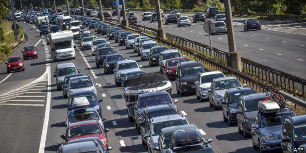Info trafic: Bison futé voit orange au niveau national dans le sens des départs, rouge dans l'Ouest pour...